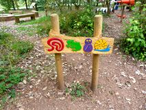 Rushcliffe country park signage. Fun signs pointing the way at rushcliff country park in Nottinghamshire Stock Photography