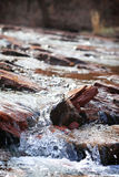 Rushed Waters. Close up of the water in a stream running over the rocks stock photography