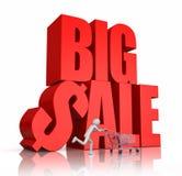 Rushing for big sale Stock Image