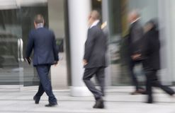 Rushing businessmen Royalty Free Stock Images