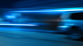 Rushing car light traces Royalty Free Stock Images