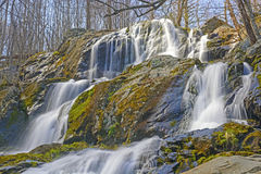 Rushing Cascade in the Early Spring Royalty Free Stock Photo