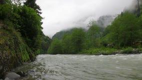 Rushing mountain river stock video