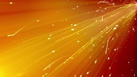 Rushing particles with flaring trail in cyberspace Royalty Free Stock Photos