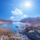 Rushing river scene Stock Photo