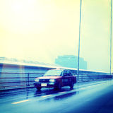 Rushing taxi Stock Image