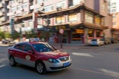 Rushing taxi Royalty Free Stock Image