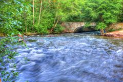 Rushing Water in High Dynamic Range Stock Photo