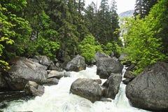 River rocks Yosemite National Park California stock photography