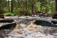 Rushing water in river Stock Photography