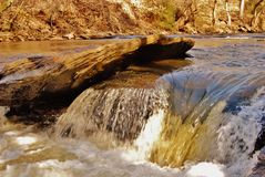 Rushing water on the river Royalty Free Stock Photos