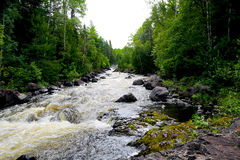 Grassy River High Falls Rushing Water Royalty Free Stock Photos