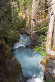 Rushing water in steep gorge Royalty Free Stock Photos