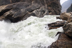 Rushing Water of Yangtze River Royalty Free Stock Photos