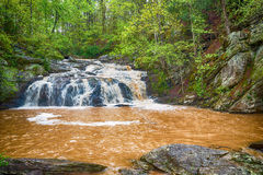 Rushing waterfall in Georgia mountains Royalty Free Stock Photography