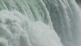 Rushing waterfall water stock video