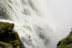 Rushing waters of Gullfoss (Golden falls) waterfall, Iceland Stock Photo