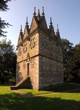 Rushton Triangular Lodge. This delightful triangular building was designed by Sir Thomas Tresham (father of one of the Gunpowder Plotters) and constructed Stock Photo