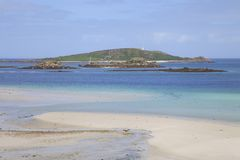 Rushy Point, Tresco, Isles of Scilly, England Stock Images