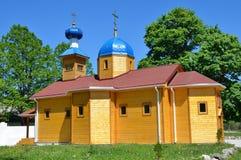 Rusia, Adygea, pueblo de Pobeda, Mihaylo-Afonskaya abandona (el monasterio) El templo en honor del Dormition de la madre de dios Imagenes de archivo