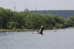 Rusia, Berezniki 21 de julio de 2017: la nación es inundada Foto de archivo