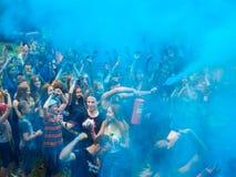 RUSIA, Bryansk - 1 de julio de 2018: Festival santo de colores foto de archivo libre de regalías