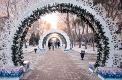 Rusia Calle Rostov-On-Don de Pushkinskaya 4 de enero de 2017 fotos de archivo