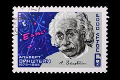 Rusia - CIRCA 1979: Un sello Albert Einstein Foto de archivo