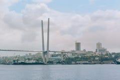 Rusia, ciudad de Vladivostok, el 18 de agosto de 2015, mar, costa, ciudad fotografía de archivo libre de regalías