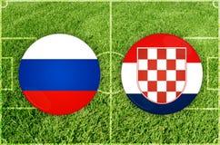 Rusia contra partido de fútbol de Croacia libre illustration