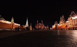 Rusia. Cuadrado rojo, noche Imagen de archivo