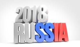 Rusia 2018 3d rinde stock de ilustración