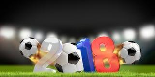 Rusia 2018 3D rinde el estadio de fútbol del símbolo Fotos de archivo