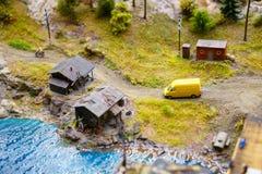 Rusia en la disposición magnífica miniatura en St Petersburg, el 19 de enero de 2019, mini copias de la gente y caminos y coches fotos de archivo