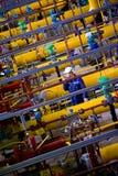 Rusia. Estación del compresor de gas natural Foto de archivo libre de regalías