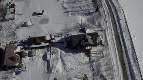 Rusia, invierno, iglesia ortodoxa, paisajes del invierno de Yakutia en Rusia almacen de video