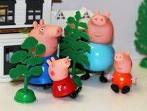 Rusia, Izhevsk cerdos de Toy Peppa del 4 de febrero de 2018 imágenes de archivo libres de regalías