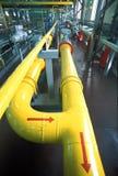 Rusia. La estación del compresor de gas natural Foto de archivo libre de regalías