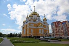 Rusia La iglesia de Cyril y de Methodius en Saransk imagen de archivo libre de regalías