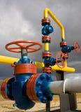 Rusia. La producción del gas natural Foto de archivo libre de regalías