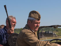 Rusia, Medyn la reconstrucción de la batalla de la Segunda Guerra Mundial Foto de archivo