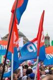 05/01/2015 Rusia, Moscú Demostración en cuadrado rojo DA de trabajo Fotografía de archivo libre de regalías
