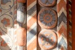 Rusia, Moscú, el 27 de febrero de 2018: Talla de piedra y ornamentos geométricos Interior Fotos de archivo
