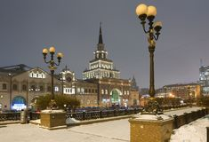 Rusia moscú El edificio de la estación de Kazán Fotos de archivo libres de regalías