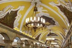 Rusia, Moscú, estación de metro de Komsomolskaya Foto de archivo libre de regalías