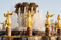 Rusia, Moscú, fuente de la amistad de la gente Imágenes de archivo libres de regalías