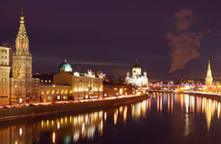 Rusia, Moscú, noche Fotografía de archivo libre de regalías