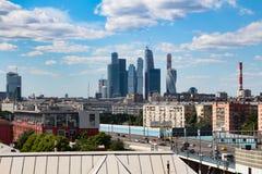06/12/2015 Rusia Moscú Vista de la ciudad de Moscú del ruso Foto de archivo