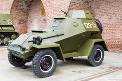 RUSIA - NIZHNY NOVGOROD, EL 4 DE MAYO: vehículo ligero blindado militar de BA-64 Imagen de archivo libre de regalías