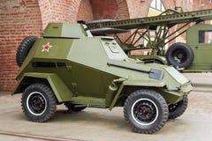 RUSIA - NIZHNY NOVGOROD, EL 4 DE MAYO: vehículo ligero blindado militar de BA-64 Imágenes de archivo libres de regalías